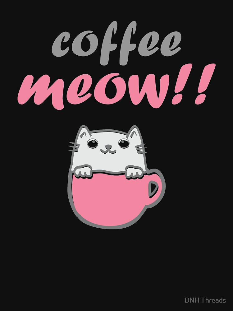 Coffee and Cat Lover Shirt Cute Cat by 6thave