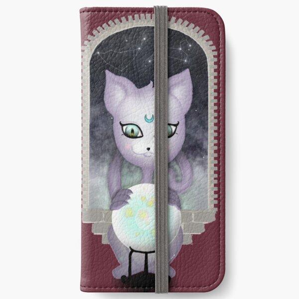Mystic Miku | Crystal Ball & Zodiac | Wine Red iPhone Wallet