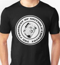 The President of $hithole Country (White/Black) Unisex T-Shirt