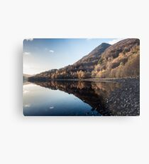 Autumn Reflections at Loch Leven Metal Print