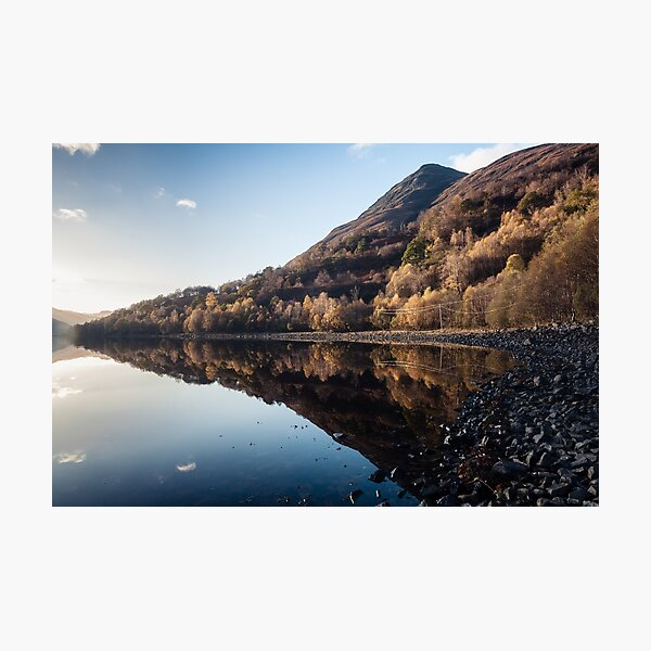 Autumn Reflections at Loch Leven Photographic Print