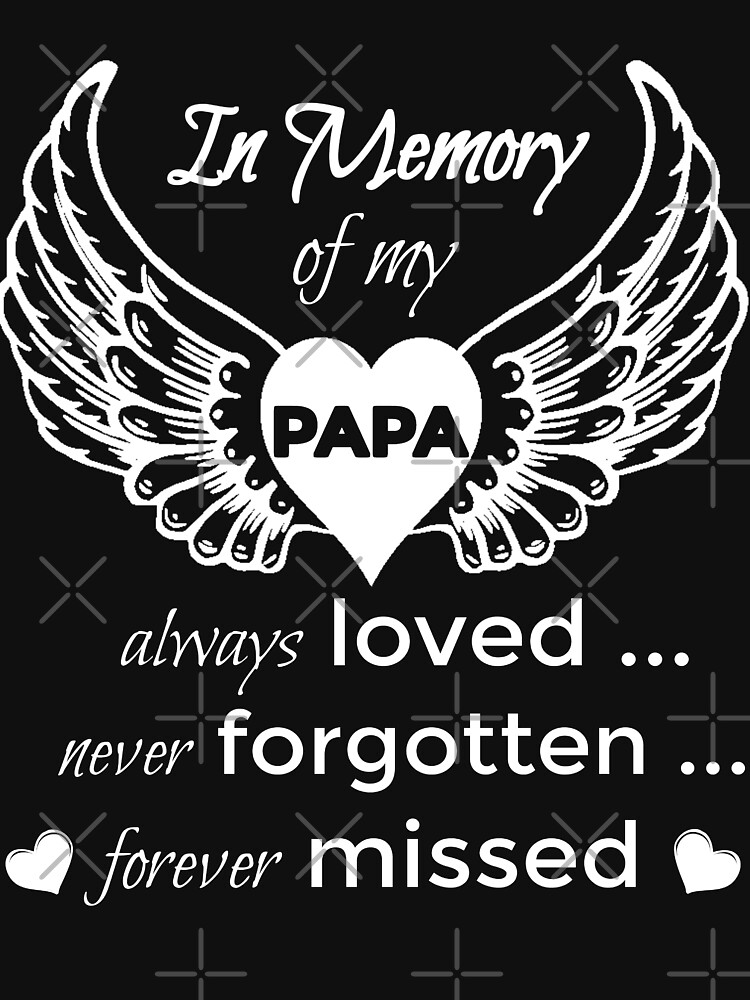 In Memory of My Papa Guardian Angel Wings Shirts by VintageInspired