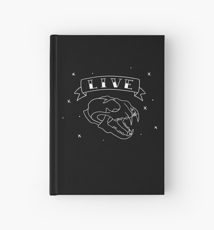 LIVE- Cat skull (Dark Edition) by StopTryingEmily