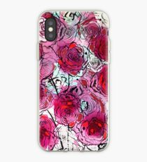 Burgundy Roses iPhone Case