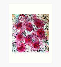 Burgundy Roses Art Print