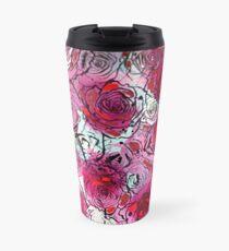 Burgundy Roses Travel Mug