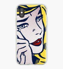 Crying Girl, Homage to Roy Lichtenstein iPhone Case