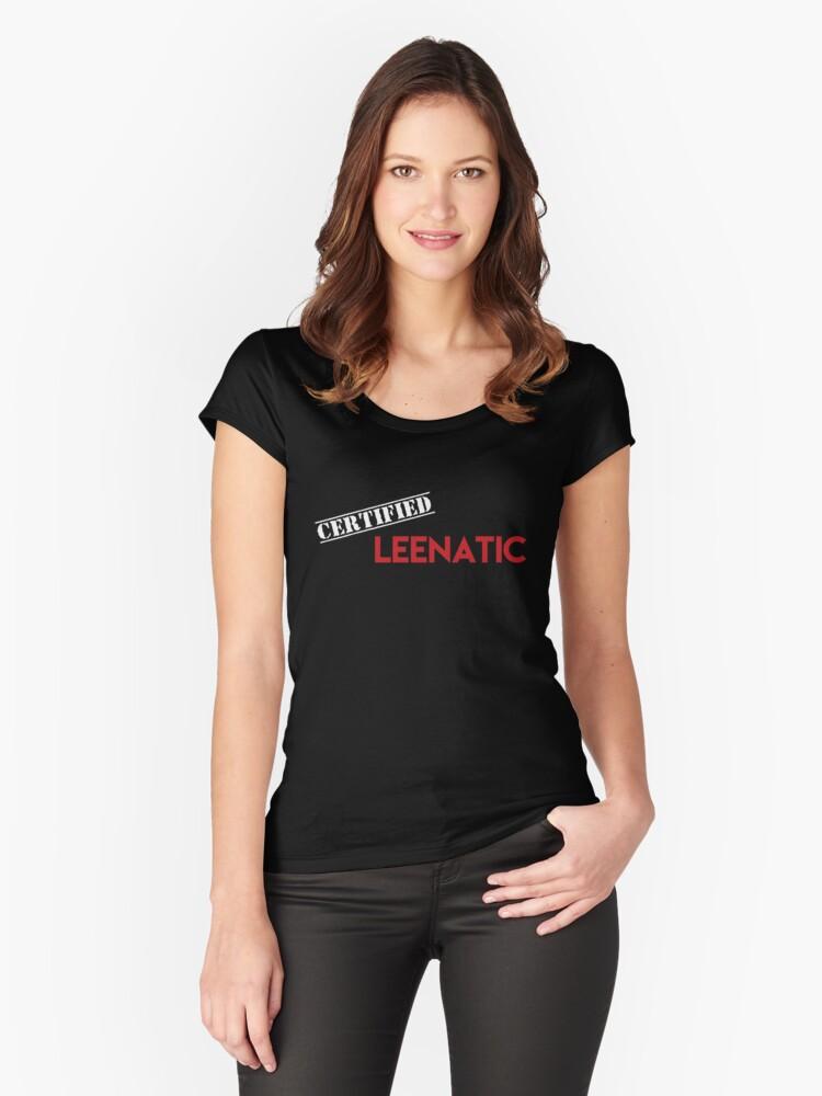 Certified Leenatic Women's Fitted Scoop T-Shirt Front