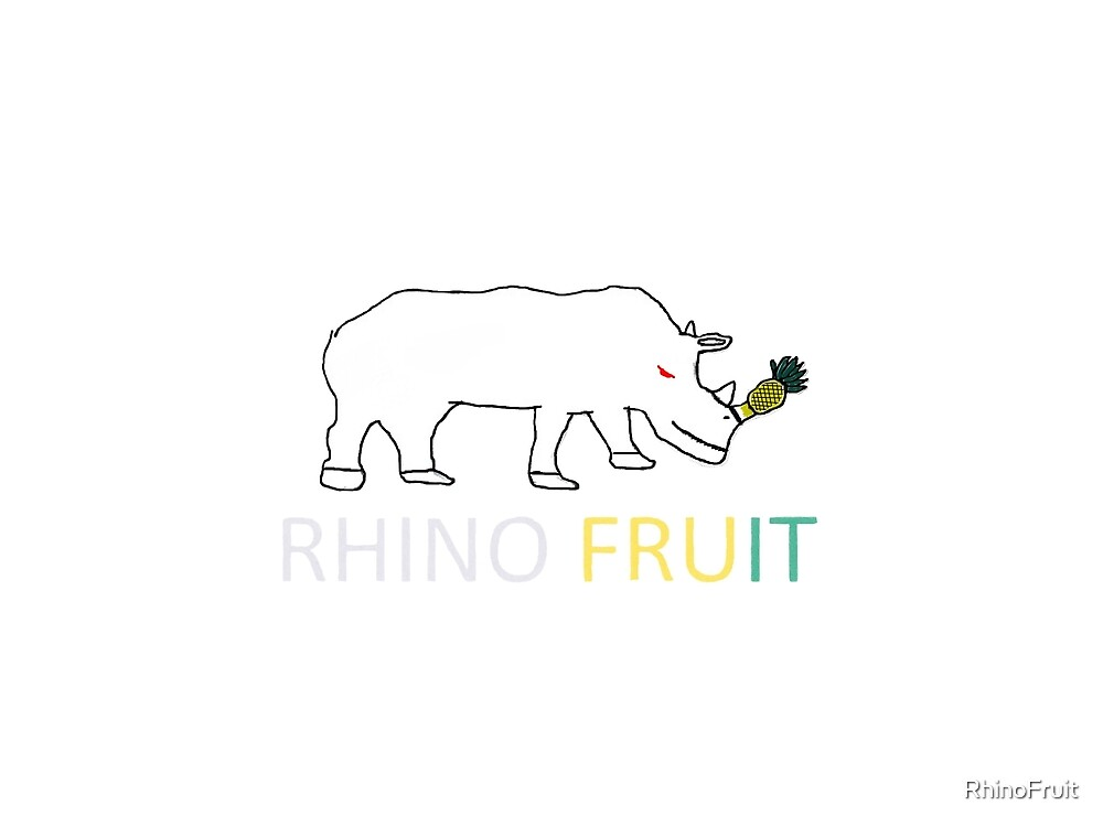 Rhino Fruit Logo with text by RhinoFruit