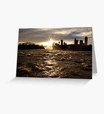 December Evening-Niagara Falls Greeting Card