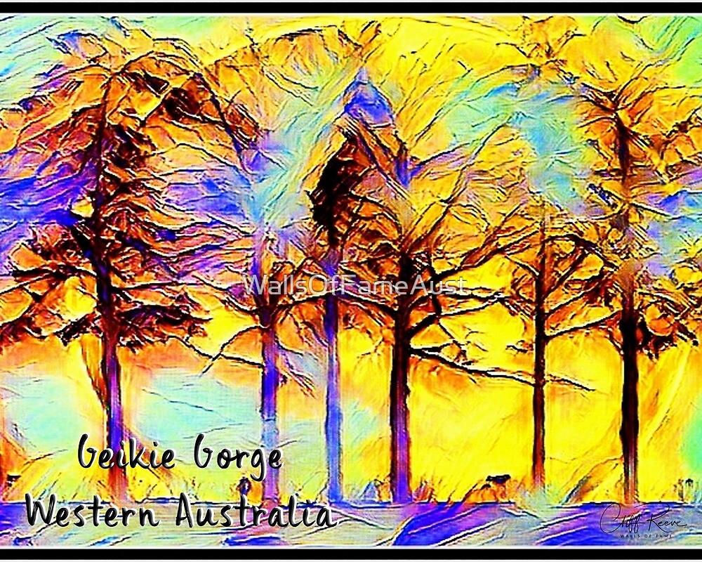 Boab Trees Digital Painting Geikie Gorge Kimberley Western Australia by WallsOfFameAust