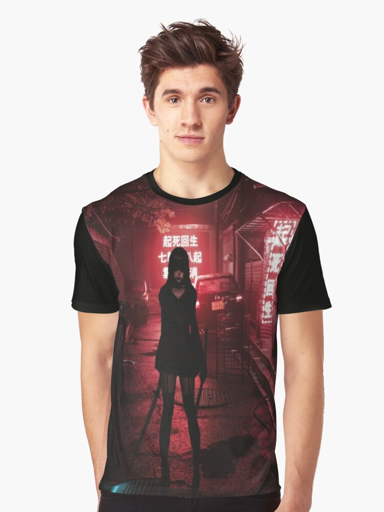She Is Deadly Graphic T-Shirt Front