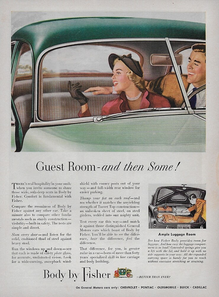 Vintage GM bodies by Fisher ad 1949 by James-Smullins