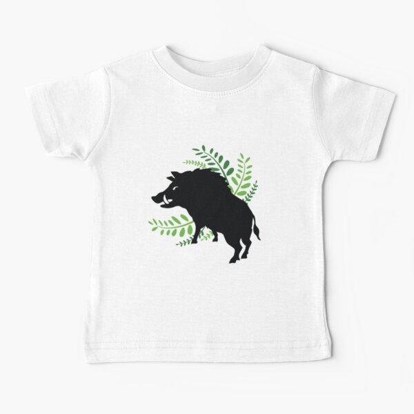 Wild Boar and Fern Design Baby T-Shirt