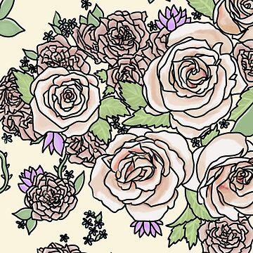 pale floral  by jennieclayton