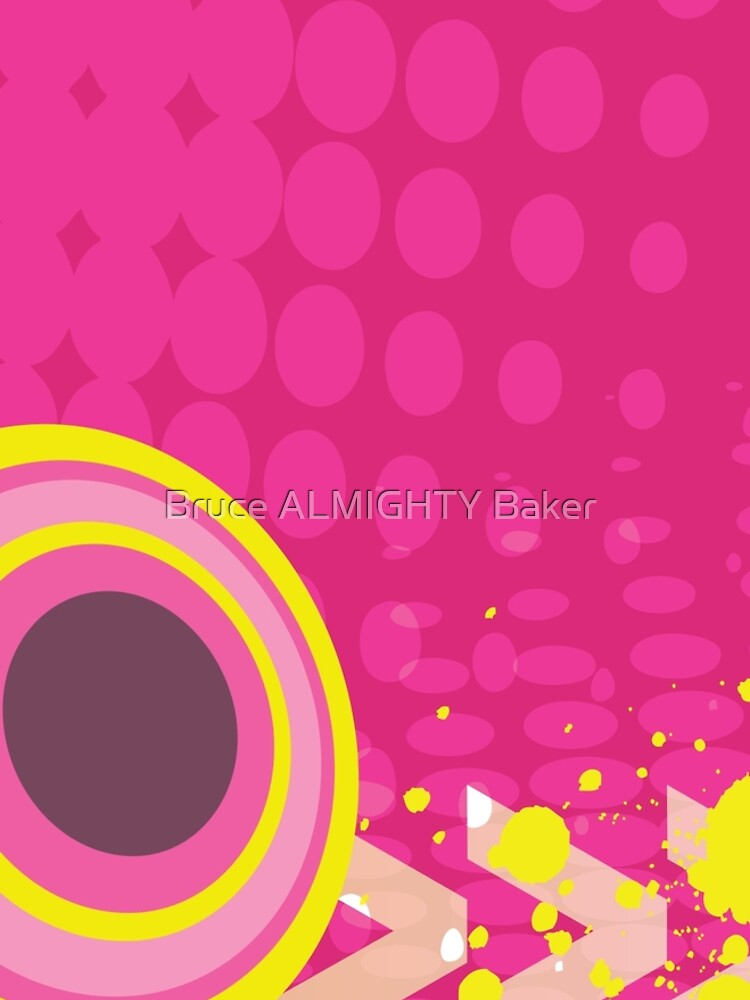 Pink Circles Abstract Art by BruceALMIGHTY