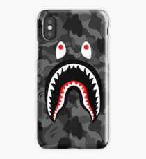 Shark Black Patern Bape iPhone Case/Skin