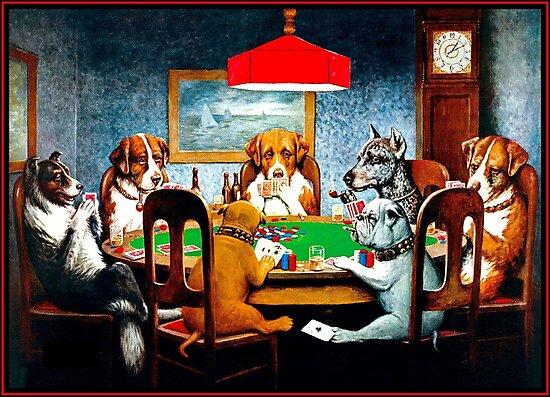 Laminas Fotograficas Perros Jugando Al Poker Vintage Cm Coolidge