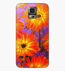 Orange Gerberas Case/Skin for Samsung Galaxy