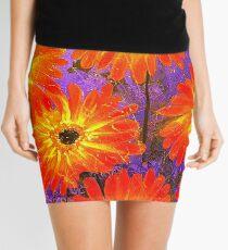 Orange Gerberas Mini Skirt