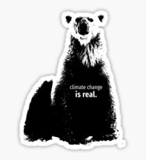 Polar Bear - Climate Change is Real Sticker
