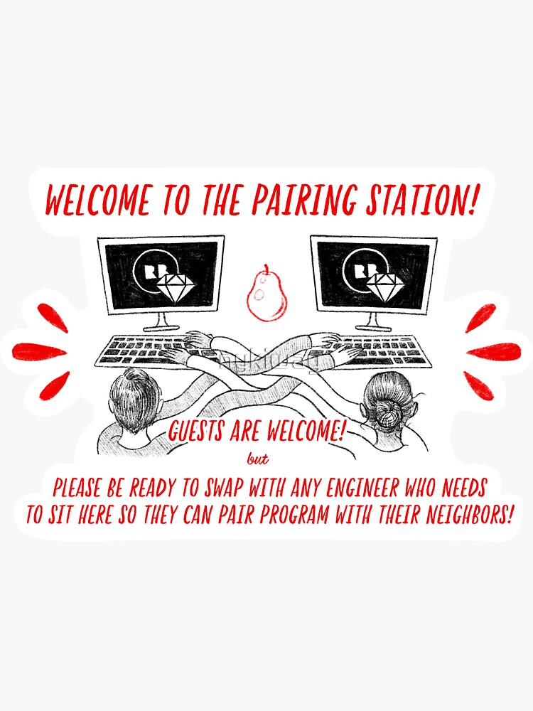 Sticker for Redbubble Engineering: Pairing Station by nykiway