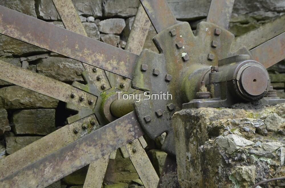 wooden wheel by Tony Smith