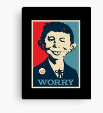 WHAT ME WORRY Canvas Print