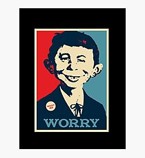 WHAT ME WORRY Photographic Print