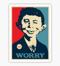 WHAT ME WORRY Sticker