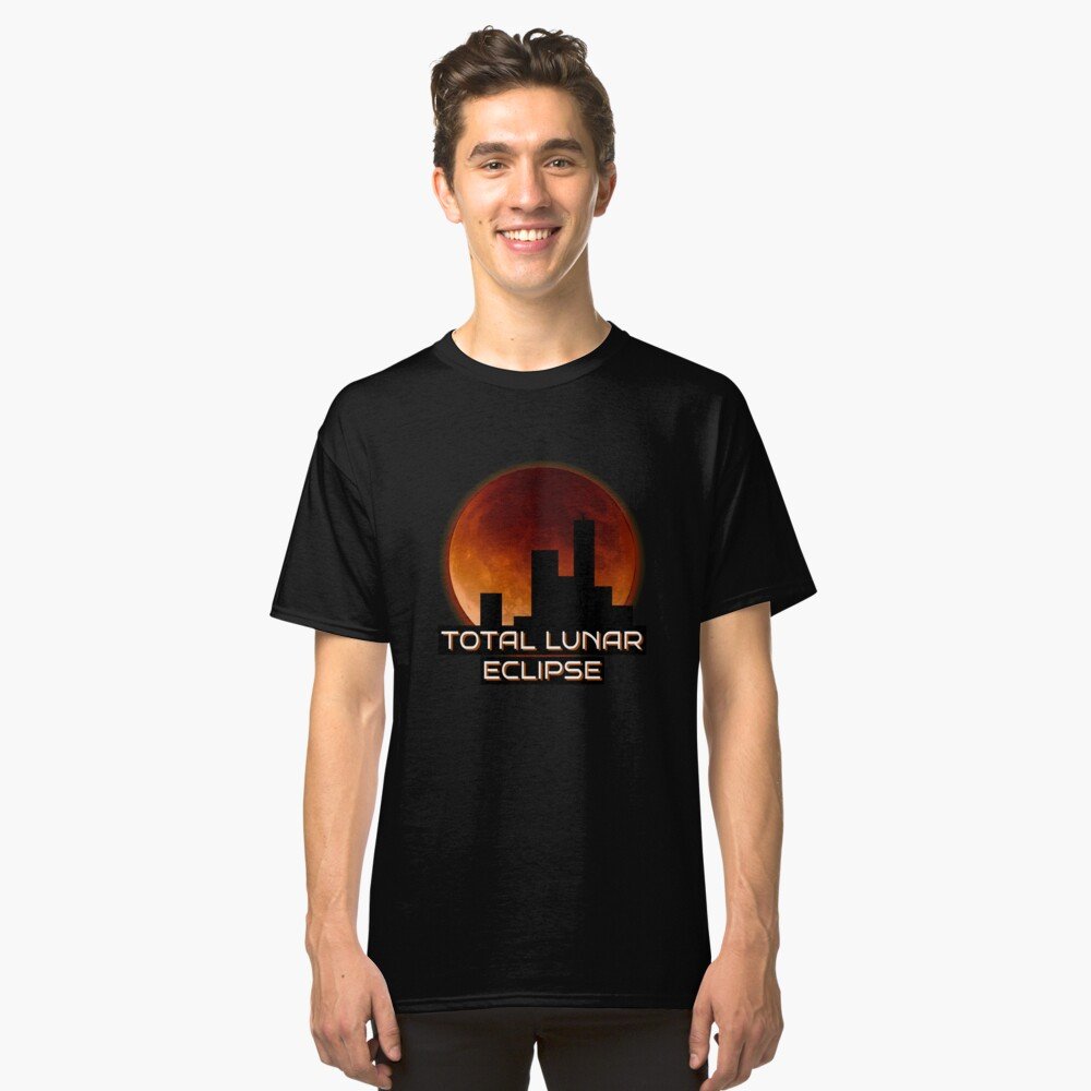 Total Lunar Eclipse Art Classic T-Shirt Front