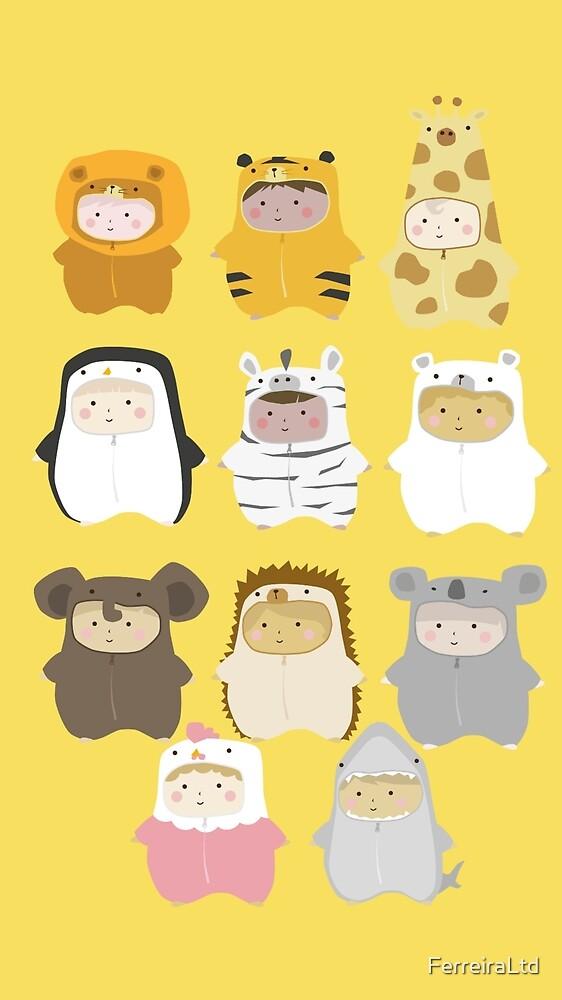 Cutie babies in teddy costumes by FerreiraLtd