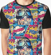 Rocky Montana - Kamikaze,Pilot,Pop-Art,Comic Graphic T-Shirt