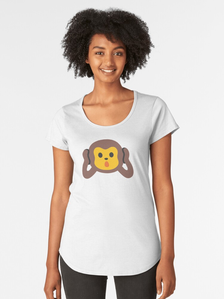 Monkey Quiet Women's Premium T-Shirt Front