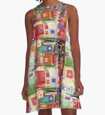 City Map A-Line Dress