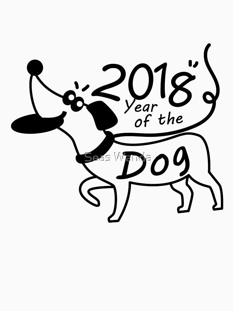 2018 Year of the Dog Chinese New Year Dachshund Lover  by macshoptee
