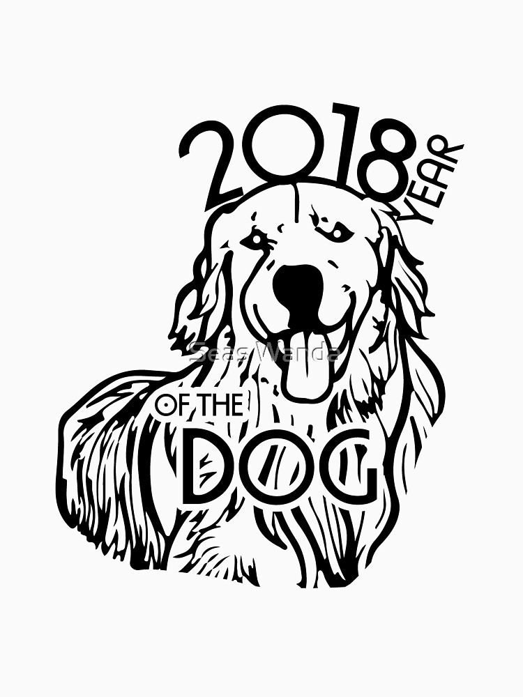2018 Year of the Dog Chinese New Year Golden Retriever by macshoptee