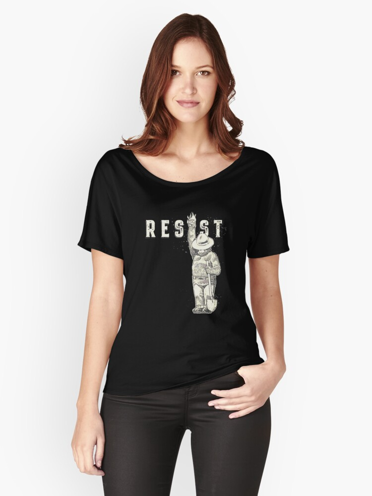 Beer resist politic all Women's Relaxed Fit T-Shirt Front