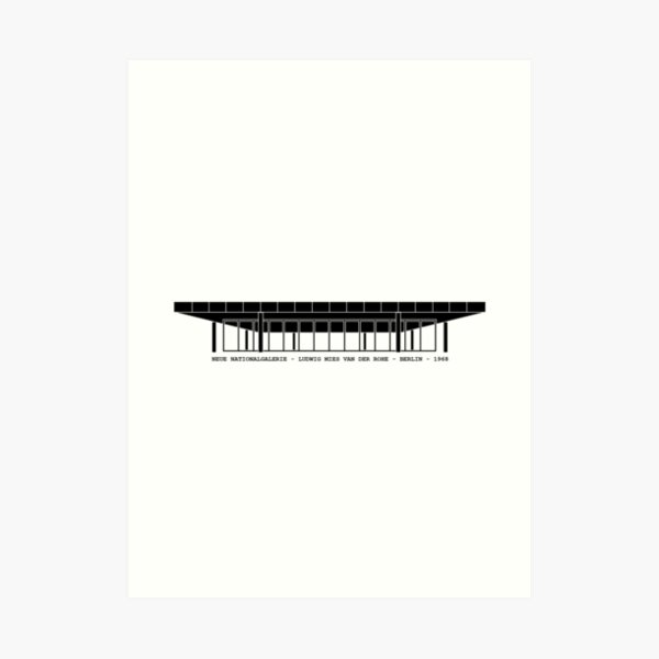 Neue Nationalgalerie Mies Van Der Rohe Architecture Tshirt Art Print