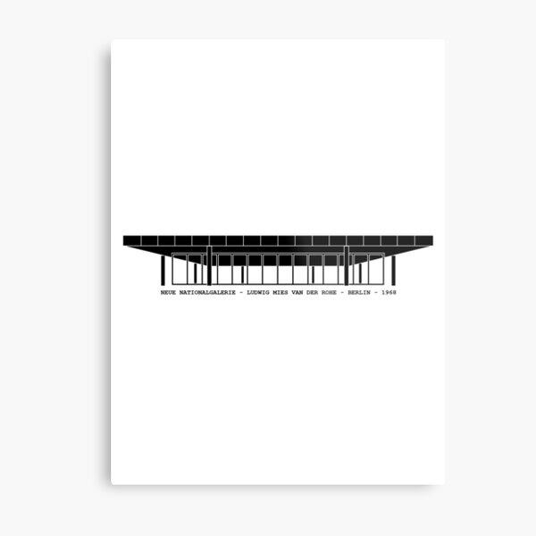 Neue Nationalgalerie Mies Van Der Rohe Architecture Tshirt Metal Print
