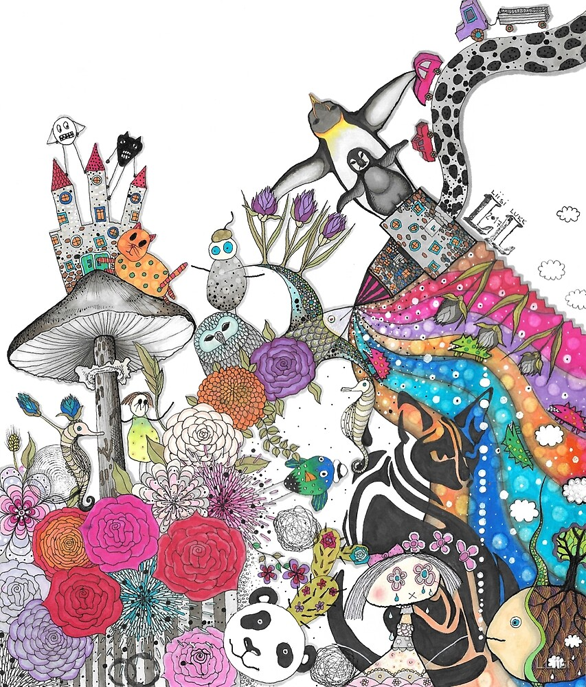 """Illustration """"Flowers II"""" by LLiisi"""