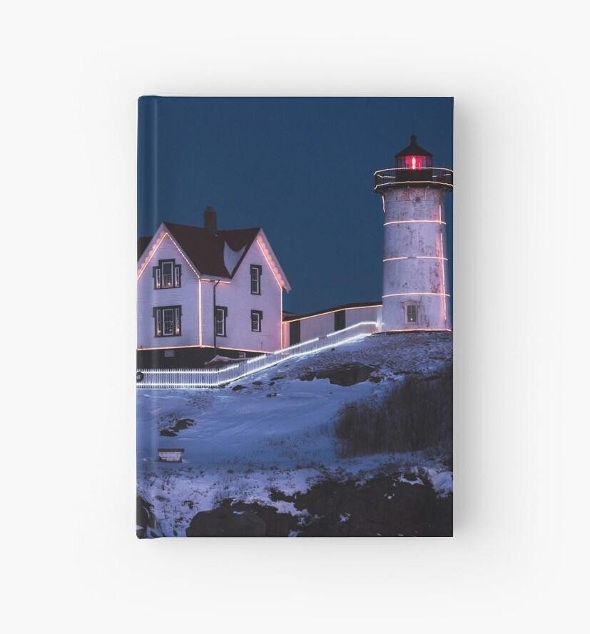 Nubble Lighthouse 2018 New Year Supermoon Cape Neddick by WayneOxfordPh