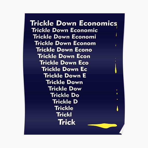 Trickle Down Trick Poster