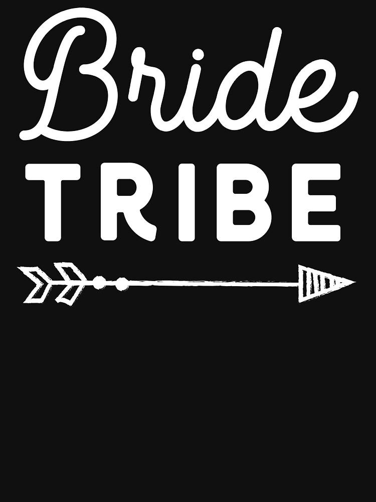 Bride Tribe White on Black by fondco