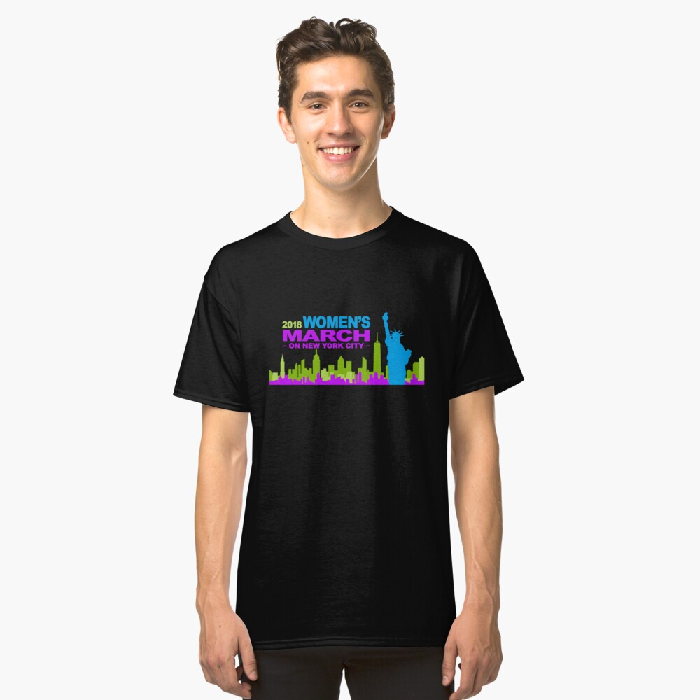 women's  march 2018 new york Classic T-Shirt Front