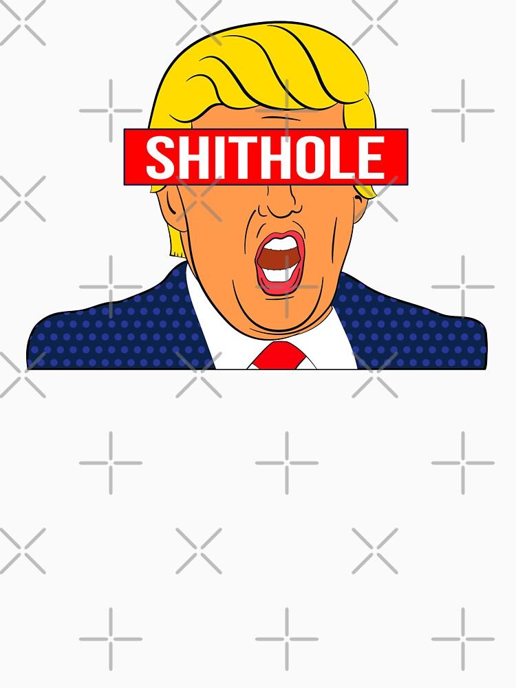 Anti-Trump Shirt: The Actual Shithole by IntrepiShirts