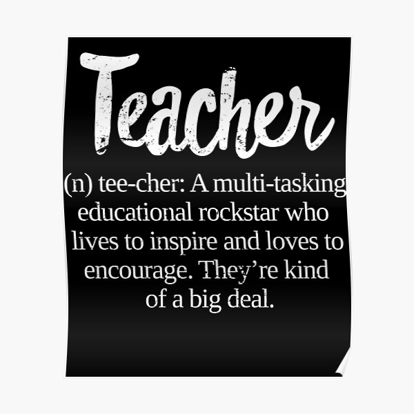 Teacher Definition: Educational Rockstar Big Deal Poster