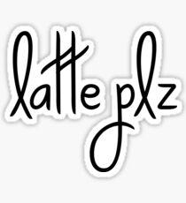 coffee latte plz Sticker