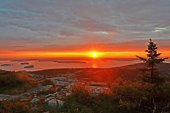 The sunrise from Cadillac Mountain in Acadia National Park by WayneOxfordPh
