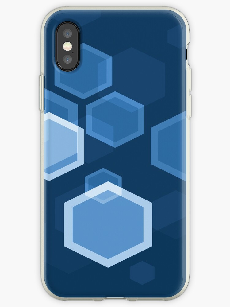 Blue Hexagon Abstract Art by Bruce ALMIGHTY Baker